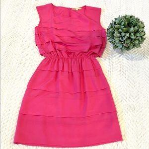 Gianni Bini Hot Pink Ruffles Dress Size XS